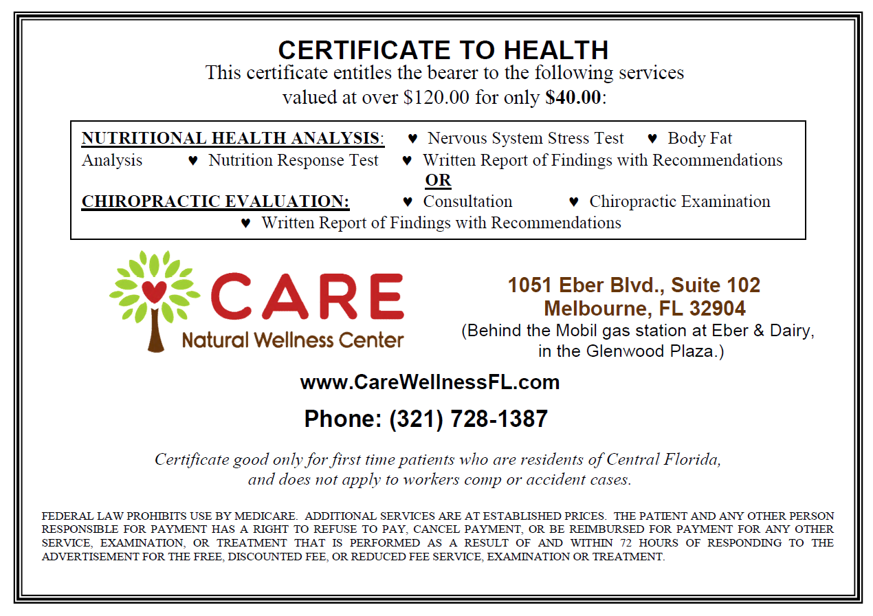 Certificate to Health website 2016